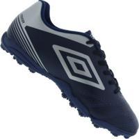 Centauro. Chuteira Society Umbro Striker Iv Tf - Adulto - Azul Escuro Prata 02d252304f637