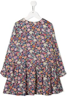 Bonpoint Vestido Com Estampa Floral - Azul