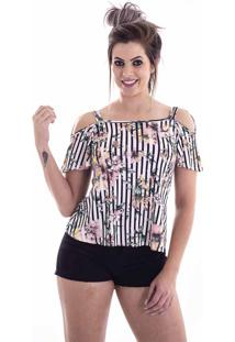 Blusa De Viscose Rovitex Off White 613123 - P