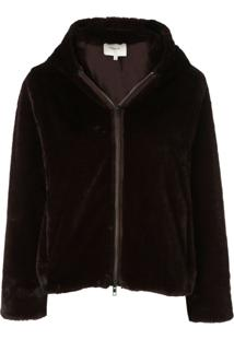 Vince Plush Faux-Fur Jacket - Marrom