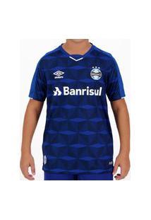 Camisa Umbro Grêmio Oficial Iii 2019 Juvenil - Marinho E Branco