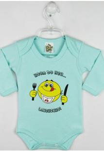 Body Bebê Manga Longa Estampa Divertida Verdern - Masculino-Verde