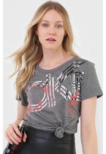 Camiseta Coca-Cola Jeans Lettering Cinza - Cinza - Feminino - Viscose - Dafiti