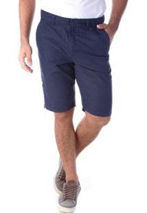 Bermuda Traymon Sarja Slim 5 Bolsos Amaciada Masculina - Masculino-Azul Escuro