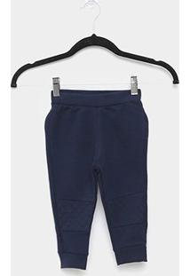 Calça Moletom Infantil Milon Peluciado Liso Básico - Masculino-Marinho