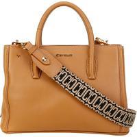 481a844e3 Bolsa Couro Carmim Handbag Yvone Feminina - Feminino-Caramelo