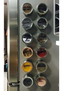 Porta Temperos E Condimentos Com Imã Em Aço Inox Art House 6 Peças