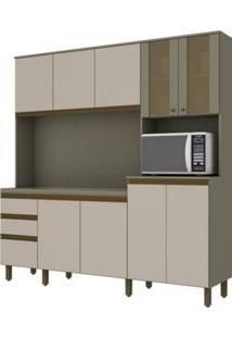 Cozinha Compacta Henn Briz B118.35 Duna/Cristal Se