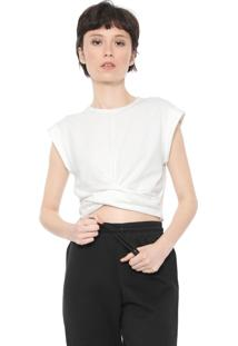 Camiseta Cropped Colcci Básica Off-White