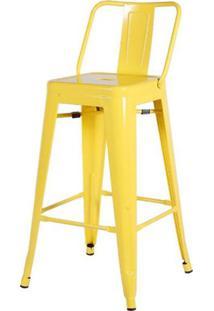 Banqueta Iron Encosto Baixo Amarelo 85 Cm (Alt) - 43427 - Sun House