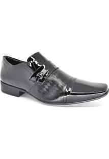 Sapato Social Masculino Couro Verniz Jota Pe 77701