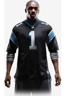7d46b38f7 Camisa Futebol Americano Nike Carolina Panthers Masculina (Cam Newton)