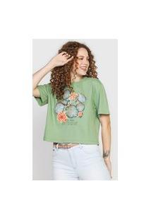 Camiseta Colcci Vitória-Régia Verde