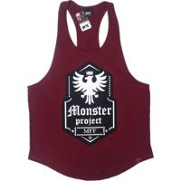 Camiseta Regata Cavada Max Force Monster Vermelha 92378c09e7bfa