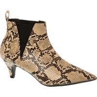 83629fd1b4 Ankle Boot Cobra Com Salto Fino Médio