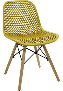 Cadeira De Cozinha Eloisa Ii Estofada Amarela