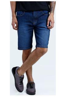 Bermuda Masculina Slim Jeans Puídos Marisa