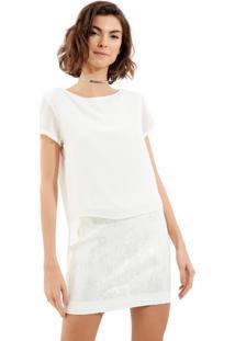 Camiseta John John Glen Off White Feminina (Off White, Pp)