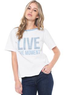 Camiseta Morena Rosa Live Branca