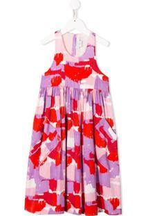 Stella Mccartney Kids Vestido Sem Mangas Com Estampa - Vermelho