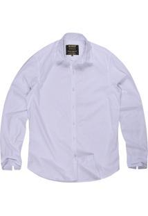 Camisa Masculina Tricoline Gravataria Branco