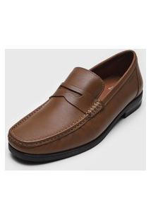 Sapato Social Ferracini Recortes Marrom