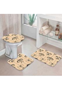 Jogo Tapetes Para Banheiro Laços
