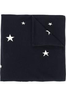 Chinti & Parker Cachecol De Cashmere Com Estrelas - Azul