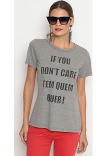 "Camiseta ""Tem Quem Quer""- Cinza & Preta- Coca-Colacoca-Cola"