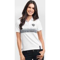 6514d39404 Camisa Polo Feminina Botafogo Fio Tinto - Feminino