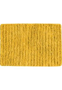 Tapete Para Banheiro Indiano- Amarelo Escuro- 65X45Cagi Tapetes