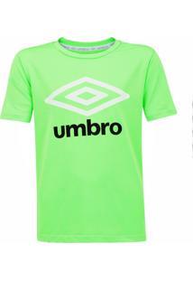 Camisa Umbro Juvenil Basic Uv Infantil Verde