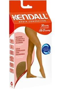 Meia-Calça Kendall Média Compressão Feminina - Feminino-Marrom