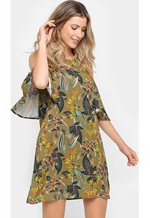 1ddbfa6038 Vestido Colcci Evasê Curto Recorte Ombro - Feminino