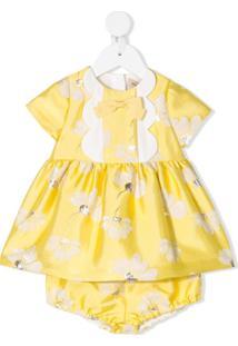 Hucklebones London Vestido Godê Com Calcinha - Amarelo