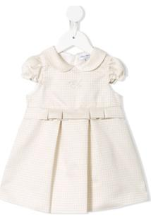 Emporio Armani Kids Vestido Com Padronagem Geométrica - Branco