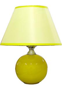 Abajur Esfera Amarelo M Bivolt