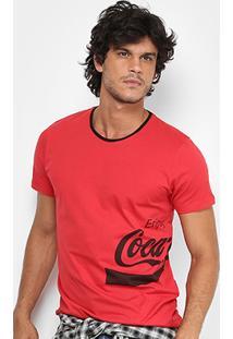 b4a0b9f507e177 Camiseta Coca-Cola Enjoy Coke Masculina - Masculino