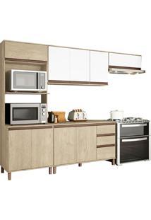 Cozinha Compacta 10 Portas Vicenza 6801K – Visão Móveis - Sonora / Branco
