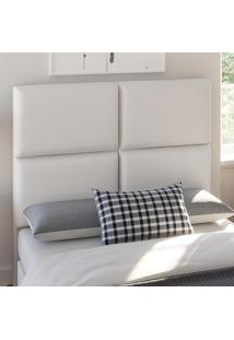 Cabeceira Casal 1,40 X 1,25 Donna Corino Branco - Viero Móveis