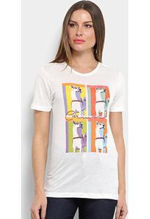 Camiseta Carmim Lobos Feminina - Feminino