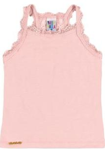 Blusa Primeiros Passos Menina Cotton - Feminino-Rosa