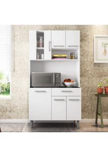 Armário De Cozinha 6 Portas 1 Gaveta Carol Poliman Móveis Branco