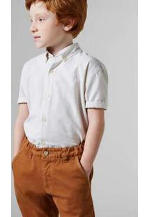 Camisa Mini Oxford Mc Reserva Mini Nude