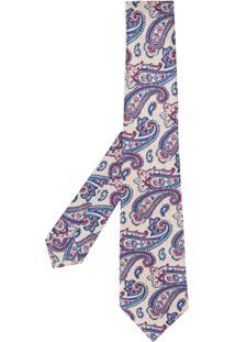 Kiton Gravata Com Estampa Paisley - Neutro