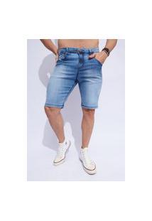 Bermuda Jeans Masculina Azul Claro Vt891703