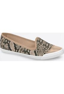 Sapatilha Feminina Slipper Estampa Animal Print Moleca