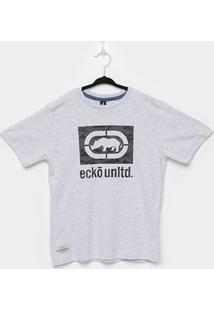 Camiseta Juvenil Ecko Unltd Masculina - Masculino-Off White