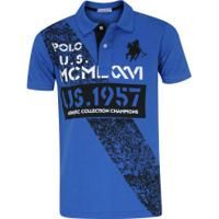 dc53b2d862 Camisa Polo Polo Us 267 - Masculina - Azul Preto