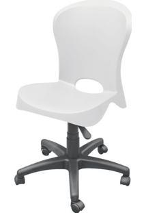 Cadeira Jolie Sem Braco Com Rodizios Branco - 20048 - Sun House